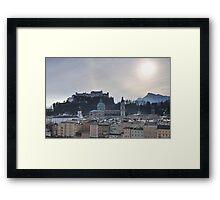 Festung Salzburg Framed Print