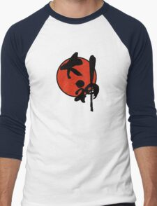 Okami Logo Men's Baseball ¾ T-Shirt