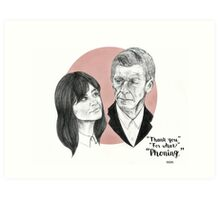 """Thank You For Phoning"" Clara and the Twelfth Doctor Art Print"