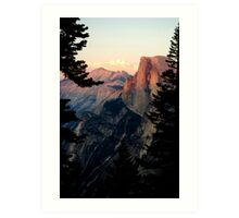 Half Dome Alpenglow in Yosemite Art Print