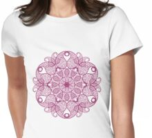 Abstract circular pattern Womens Fitted T-Shirt