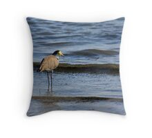 Wading Plover Throw Pillow