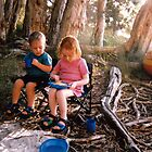 Kids Camping by Cheryl Parkes