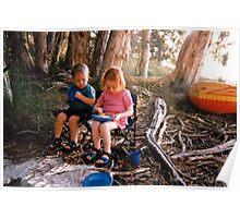 Kids Camping Poster