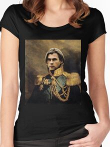 Thor Chris Hemsworth old fashioned vintage portrait 2 Women's Fitted Scoop T-Shirt