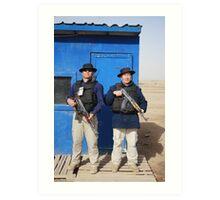Gherka Guards in Iraq Art Print