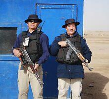 Gherka Guards in Iraq by Charles Buchanan