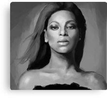 Beyoncé black and white portrait Canvas Print
