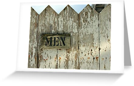 church outhouse....men! by Lynne Prestebak