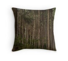 Forest Conifers Throw Pillow