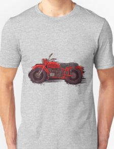 red vintage motorcycle Unisex T-Shirt
