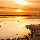 walney winter sunset by davidautef