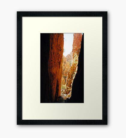 Golden Standley Chasm Framed Print