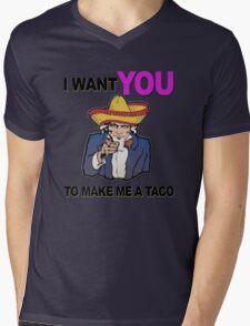 Uncle Sam I want you to make me a taco Mens V-Neck T-Shirt