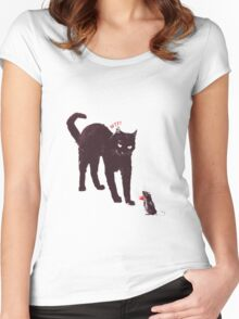 Cat & Mouse Women's Fitted Scoop T-Shirt