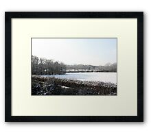 A dusting of white Framed Print