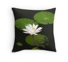 Bali - Water Lily Throw Pillow