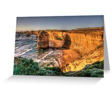 Awe - Twelve Apostles , Great Ocean Road - The HDR Experience Greeting Card