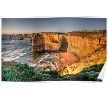 Awe - Twelve Apostles , Great Ocean Road - The HDR Experience Poster