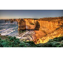 Awe - Twelve Apostles , Great Ocean Road - The HDR Experience Photographic Print