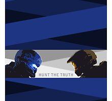 Halo 5 Stylised Cut-out Hunt The Truth by BinaryAtlas