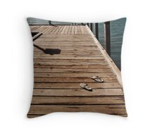 Gone Swimming Throw Pillow