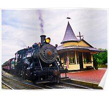 Locomotive Steam Engine Poster