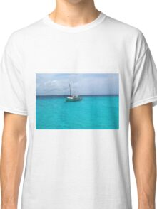 Sailing Serenity in the Azure Waters of the Caribbean Classic T-Shirt