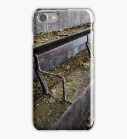 Abandoned theatre steps - architectual abstract iPhone Case/Skin
