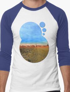 Horizon, clouds, sky and sunset | landscape photography Men's Baseball ¾ T-Shirt