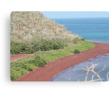 Red Beach on Rabida Canvas Print