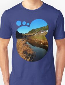 A river, the valley and traditional farmland | waterscape photography T-Shirt