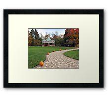 Path to Mill Creek Gazebo Framed Print
