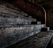 Abandoned theatre steps - architectual heritage by dirkercken