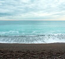 Beach at Loano (ligurian coast of Italy) by Ulf Buschmann