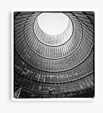 the house inside the cooling tower - industrial decay Canvas Print