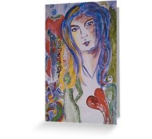 ♥ woman  Greeting Card