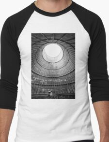 the house inside the cooling tower - abandoned factory Men's Baseball ¾ T-Shirt