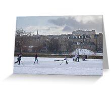 Ice Hockey and Edinburgh Castle Greeting Card