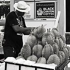 Durian vendor by Nemm