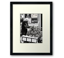 Durian vendor Framed Print