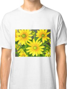 Yellow Summer Cone Flowers in the Garden Classic T-Shirt