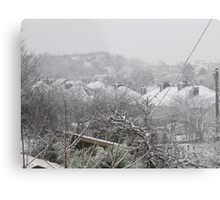 Cork Winter Metal Print