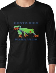 Red eyed tree frog Costa Rica Long Sleeve T-Shirt