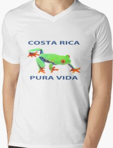 Red eyed tree frog Costa Rica Mens V-Neck T-Shirt