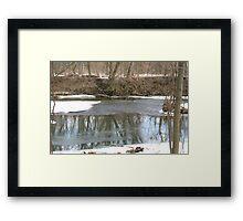 Icy Stream Framed Print