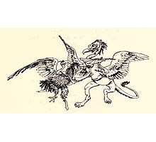 The Zankiwank & the Bletherwitch by Shafto Justin Adair Fitz Gerald art Arthur Rackham 1896 0188 Griffin and Phoenix Photographic Print