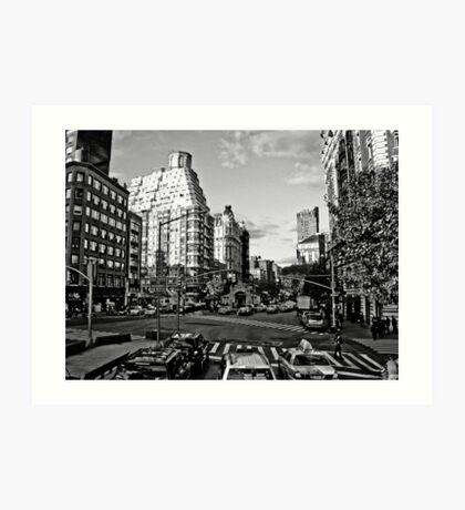 Intersection B&W Art Print