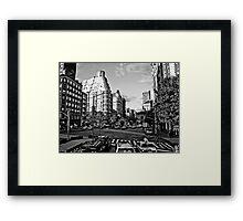 Intersection B&W Framed Print