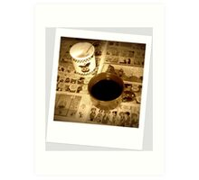 Coffee With The Funnies  Art Print